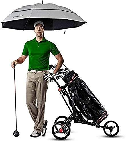 Carrito de golf plegable de 3 ruedas, ligero carrito de golf con mango ajustable y marcador, carrito de golf plegable de 3 ruedas, un segundo para abrir y cerrar