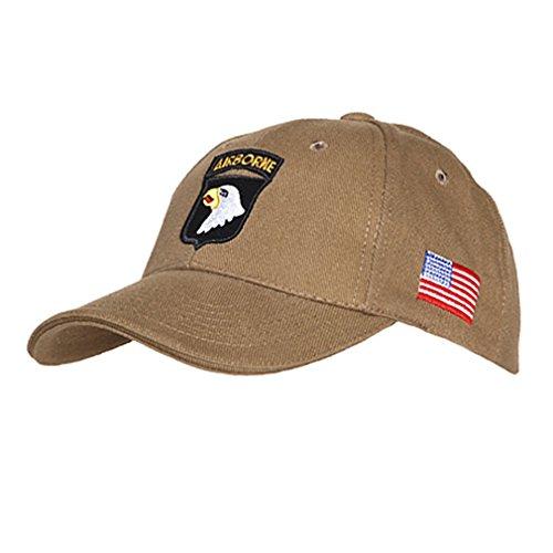 The Screaming Eagles # 16016 Casquette 101st Airborne de l'armée américaine avec insigne Aigle et drapeau américain
