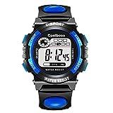 SuoSuo GWTRY Digital Alarm Cronometro Back Light Orologio delle Donne degli Uomini dei Bambini di Sport Orologio da Polso Orologio relogio Feminino Masculino 8O92 (Colore : N2 Blue)