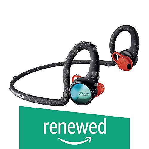 Plantronics BackBeat FIT 2100 Wireless Headphones, Sweatproof and Waterproof in Ear Workout Headphones, Black (Renewed)