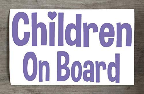 Autocollant en vinyle pour pare-chocs et fenêtre Motif enfants à bord - HSS366