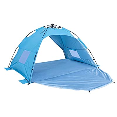 Sun-shelter Beach Tent 3 or 4 Person Automatic Camping Tent with UV Protection Alpika pop up Beach Shade for Outdoor Activities Easy Set up