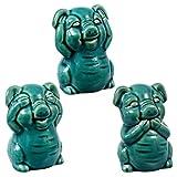 Greenbrier Decorative Ceramic Pigs That See, Hear, and Speak No Evil Bundle