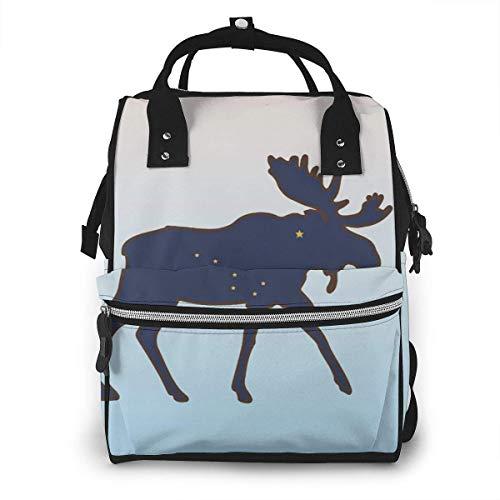 GXGZ Elk de la faune Elan canadien sac à langer sac à dos imperméable multifonction bébé sacs à langer sacs de maternité à couches durable grande capacité pour maman papa voyage bébé soins