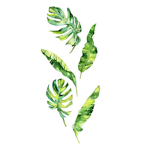 jieGorge Summer Tropical Green Plants Leaves Wall Sticker Vinyl Decals Home Decorations, Home Decor, Products for Christmas