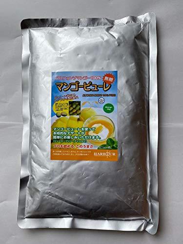 糖分も一切加えない自然の味【業務用・マンゴーの王様100%ピューレ(1Kg入り)常温保存タイプx5パックセット】