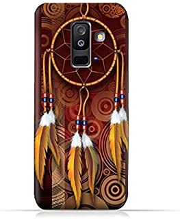 AMC Design Samsung Galaxy A6 Plus 2018 TPU Silicone Protective Case with American Feathers Design