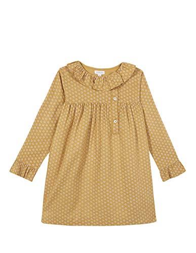 Gocco Vestido DE Viscosa Mostaza con Estampado Crudo Dress, 43864 para Niñas