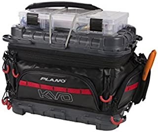 Plano PLAB36700 KVD Signature Series 3600 Size Tackle Bag, Black/Grey/Red, Premium Tackle Storage