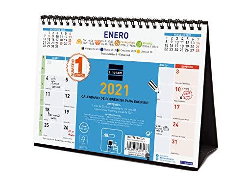 Finocam - Calendario de sobremesa 2021 Escribir Español