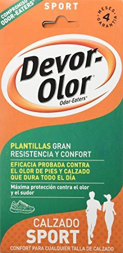 Devor- Olor Super Plantillas, Calzado Trabajo, 1 par de plantillas