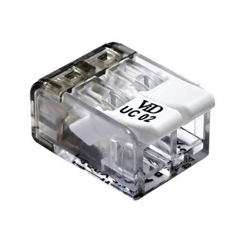 ViD® Verbindungsklemme 2-polig ViD-Version (100 St.) 2x 0,2-4mm² für starre und flexible Leiter