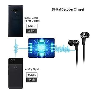USB tipo C Auriculares de botón [Nueva versión] Auriculares In Ear con Micrófono para New iPad Pro/MacBook Pro/Air, Xiaomi 10/mi 8, Huawei P40/P10 Pro/Mate XS, OnePlus 8/7, Google Pixel 3a/xl, Mote G8
