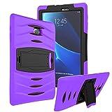 KIQ Galaxy Tab A 8.0 2015 T350 Case, Full-Body Shockproof Military Heavy Duty Case Cover Screen Protector Stand Samsung Galaxy Tab A 8.0 SM-T350 SM-T355 (2015) (Armor Purple)