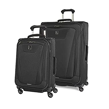 Travelpro Maxlite 4 2 Piece set: Expandable 29  and 21  Spinners (Black, One Size)