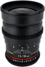 Rokinon Cine CV35-N 35mm T1.5 Aspherical Wide Angle Cine Lens for Nikon DSLR