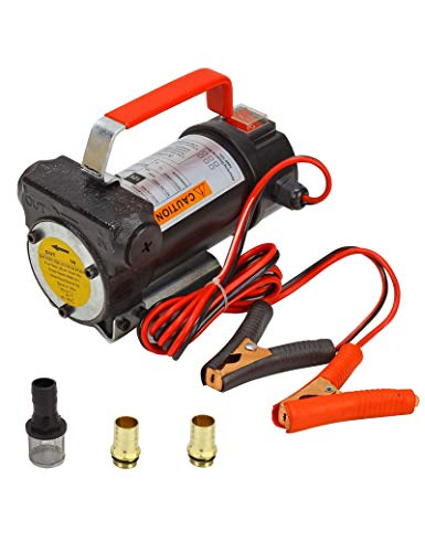 BLACKHORSE-RACING 12V New Portable DC Electric Fuel Transfer Pump Diesel Kerosene Oil Commercial...