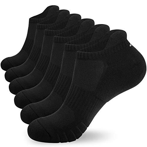 coskefy Sneaker Socken Herren 43-46 39-42 35-38 47-50 6 Paar Socken Damen Baumwollesocken Atmungsaktiv Sport Gepolsterte Laufsocken Knöchelsocken Outdoor Söckchen