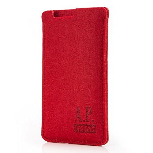 A.P. Donovan - Handytasche Schutzhülle - Filztasche Filzhülle - Handysocke aus Filz - Handy Hülle Tasche aus Stoff Sleeve - Rot, iPhone 5 / 5s