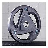 Placas de pesas de ejercicio Las placas mancuerna con barra 2 pulgadas-Olímpico Grip...