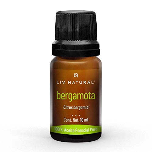 Aceite esencial de Bergamota PREMIUM LIV natural, 100% puro y natural, grado terapéutico, para aromaterapia, difusor, cuidado personal y belleza.