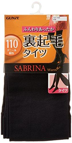 [グンゼ] タイツ SABRINA サブリナ ウォームプラス 裏起毛 110デニール相当 レディース ブラック 日本 M-L (日本サイズM-L相当)