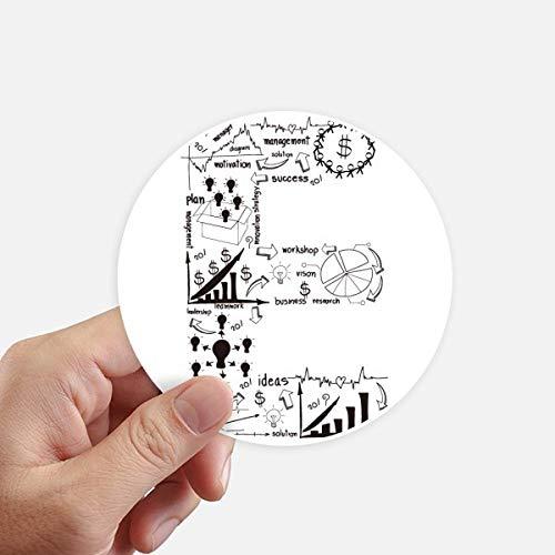 DIYthinker Travail Simple Brainstorm Courbe de données Illustration adhésifs Ronds de 10 cm Mur Valise pour Ordinateur Portable Motobike Decal 8Pcs diamètre 10Cm Multicolor