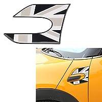 BMW用ミニ用クーパーワン用S JCW F55 F56ハッチバックフェンダーエポキシステッカーサイドプレートウィングデカール装飾カースタイリングカーアクセサリー 装飾 (Color : 3)