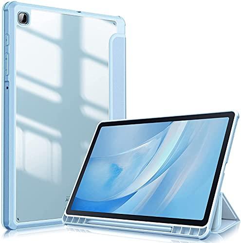 """Fintie Funda Compatible con Samsung Galaxy Tab S6 Lite de 10.4"""" - [Soporte Integrado para S Pen] Carcasa de Trasera Transparente a Prueba de Choques, Azul Claro"""