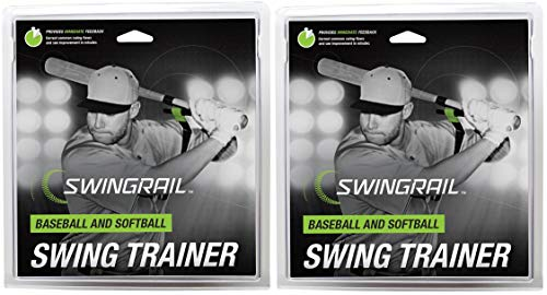 SWINGRAIL Baseball & Softball Swing Training Aid (2-Pack)