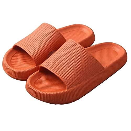 GYYlucky Zapatillas De Plataforma Suave para Hombres Y Mujeres Zapatillas Ligeras para El Hogar Sandalias De Interior con Punta Abierta Antideslizante (Color : Orange, Size : 42/43 EU)