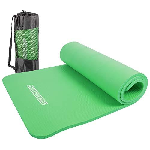 ActiveVikings®, tappetino da ginnastica, ideale per il tuo allenamento a casa o in palestra, tappetino da yoga, per donne e uomini, 183 x 61 cm, 15 mm (verde)