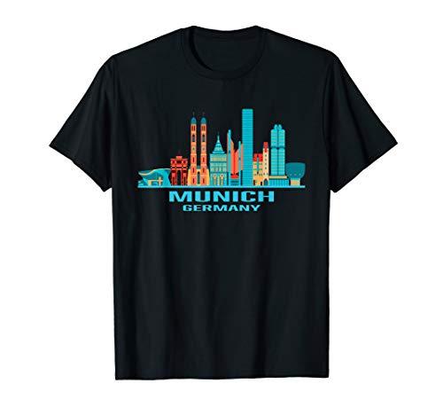 München T-Shirt Bayern Deutschland Shirt Skyline Geschenk T-Shirt