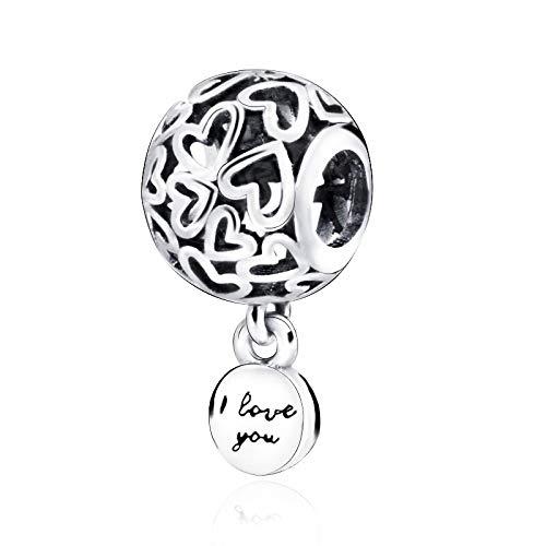 Pandora 925 joyería de plata esterlina Charmbeadsopenwork corazones encanto fit pulseras originales joyería femenina