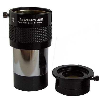 "TS-Optics 2\"" ED BarlowLinse 2X, volle Multivergütung + Adapter für 1,25\"" Okulare, TSB22"