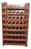 ARTECSIS Cantinetta Portabottiglie in Plastica Modulare 48 Bottiglie Marrone