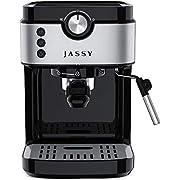 Espresso Machine 19 Bar Cappuccino Machine & Latte Maker with High Pressure Pump & Powerful Steamer for Home Barista Cafe,Single/Double Cup Control,1300W (Black)