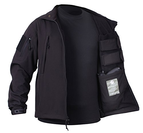 Rothco Special Ops Concealed Carry Tactical Soft Shell Jacket, Black, XL