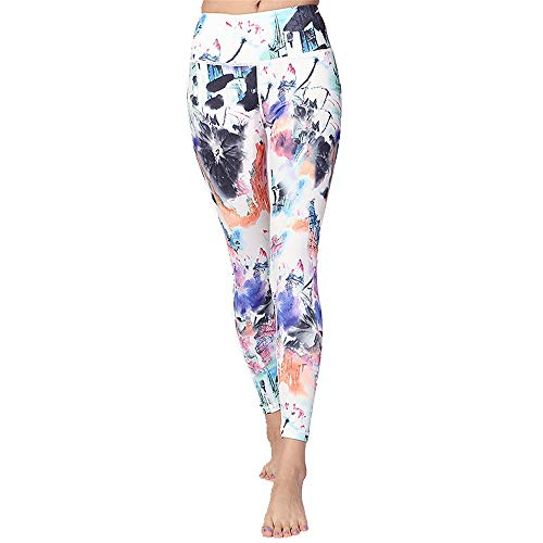 Caishuirong Frauen Yoga Hosen Casual Dance Fitness Yoga Kleidung Printed Yoga Pants Elastic Enge Feet Sports Hosen Für Yoga, Sport, Fitness (Color : A, Size : XL)