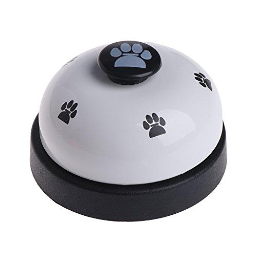 Runrain Pet Training Bell Dogs Footprint Welpen Katzen Abendessen Fütterung Tür Ring Interaktiv (White)