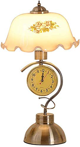 SRB Moderne bedlamp, woonkamer, tafellamp, Amerikaans retro klok, tafellamp, decoratieve tafellamp, 28 x 47 cm