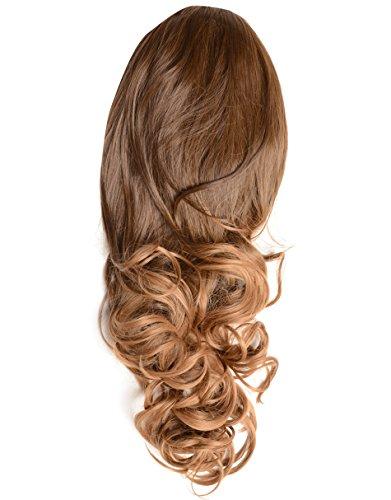Beauty Works nr. 4T/27 Haarverlenging/haarstukje, kunsthaar, voor meer volume, krullend haar,