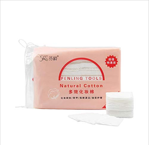 222 tampons de coton épaissis à trois couches, mouchoirs humides et secs non pelucheux pour vernis à ongles en gel, tampons de nettoyage absorbants carrés, pour enlever les cosmétiques pour le visage