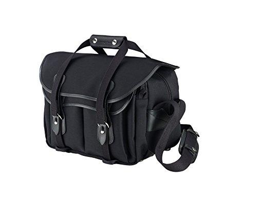 Billingham 335 - Funda para la cámara de Lona Color Negro con Ribete de Cuero