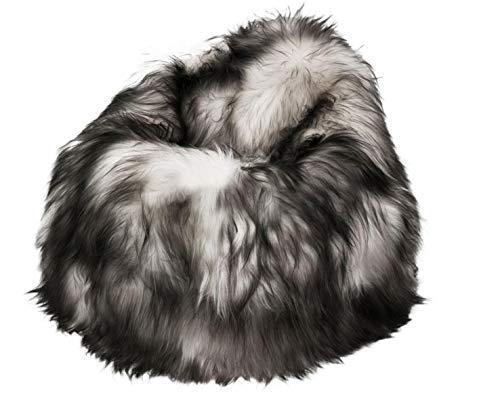 Wildash London - Poltrona a sacco in pelle di pecora islandese 100% pelliccia di pecora lunga, classica a goccia