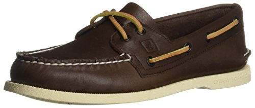 Sperry Mens A/O 2-Eye Boat Shoe, Classic Brown, 7.5