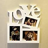 """Homeofying, Cornice in Legno per Foto Fai da Te, con Lettera d'Amore e Scritta in Inglese """"Love"""" 1"""
