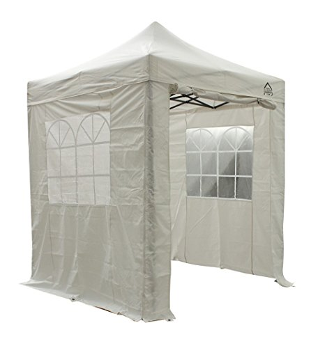 All Seasons Gazebos, 2x2m Heavy Duty, Fully Waterproof, PVC Coated, Premium Pop Up Gazebo With 4 x 100% waterproof Side Panels (Same quality as the roof) + Carry Bag with wheels and 4 x leg weight bags (Choice of Colours)