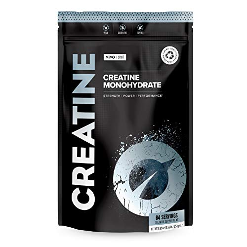 Vivo Life Creatine - Plant Based Vegan Ultra-Pure Micronized Creatine Monohydrate 250g