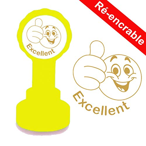 Excellent Smiley stempel voor leraren, 22 mm, herkleurbaar